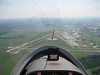 The Frederick Municipal airport from above.  We are on approach to land.