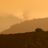 Active fire near Uncle Sam Mt. above Cachagua on Sunday, July 31, 2016.   The Soberanes Fire has burned 40,618 acres and 18% contained with 57 homes destroyed.  (Vern Fisher - Monterey Herald)