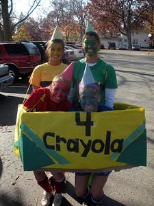 Yellow = Jenny / Green = Sara / Red = Kayla / Blue = Paige