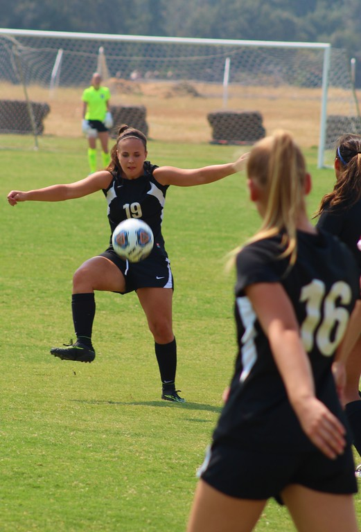 . Catharine Smalley (19) traps the ball in Fridays 4-0 loss to Sierra,