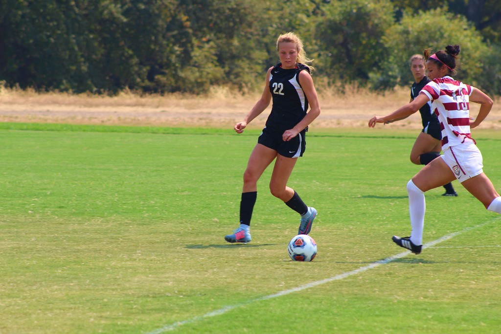 . Brooke Parks eyes the ball in Friday\'s 4-0 loss to Sierra,