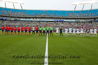 Costa Rica vs El Salvador being introduced prior to the Concacaf Gold Cup, the final score of this match was 1-1