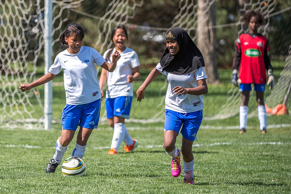 Soccer Without Borders Middle School Girls soccer game at Monfort Park in Greeley, CO, on Saturday, May 11, 2019.