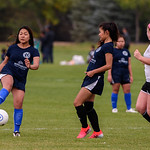 Shot during the high school girls game between Soccer Without Borders and Arsenal at the Fort Collins Soccer Complex on September 30, 2017.