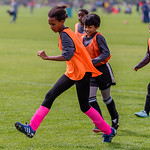 Shot during the middle school girls game between Soccer Without Borders and Arsenal at the Fort Collins Soccer Complex on September 30, 2017.