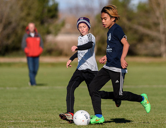 Shot during the high school boys game between Soccer Without Borders and Arsenal at the Fort Collins Soccer Complex on October 21, 2017.