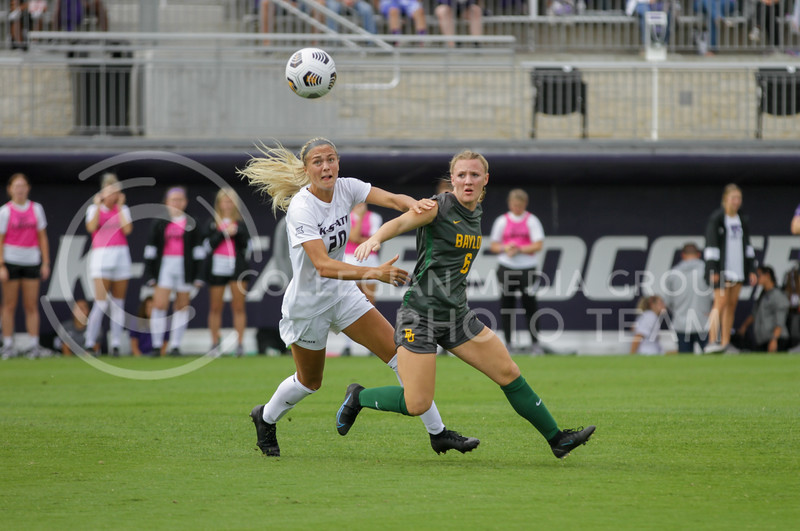 Junior Marisa Weichel fights for ball during the October 10, 2021 game against Baylor. (Sophie Osborn | Collegian Media Group)