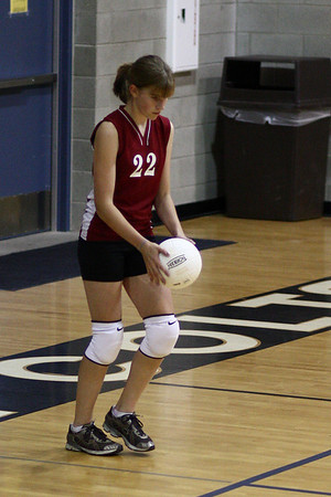 Jessica playing volleyball