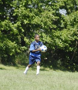 Soccer throwin