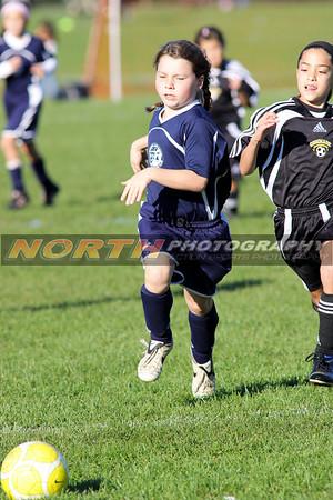10/10/2008 (Girls U10 Blue) Commack Sting vs. Northport Tornadoes