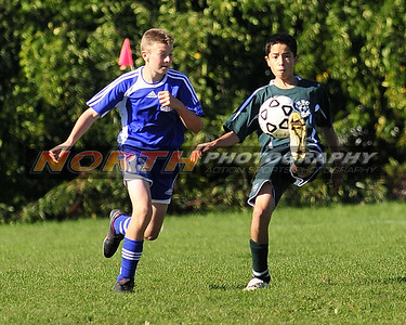 Hauppauge Blue Falcons vs HBC Warriors U 13 White
