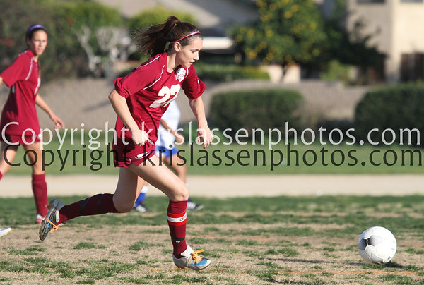 2012 La Serna Girls Soccer vs Cal Hi 2/1
