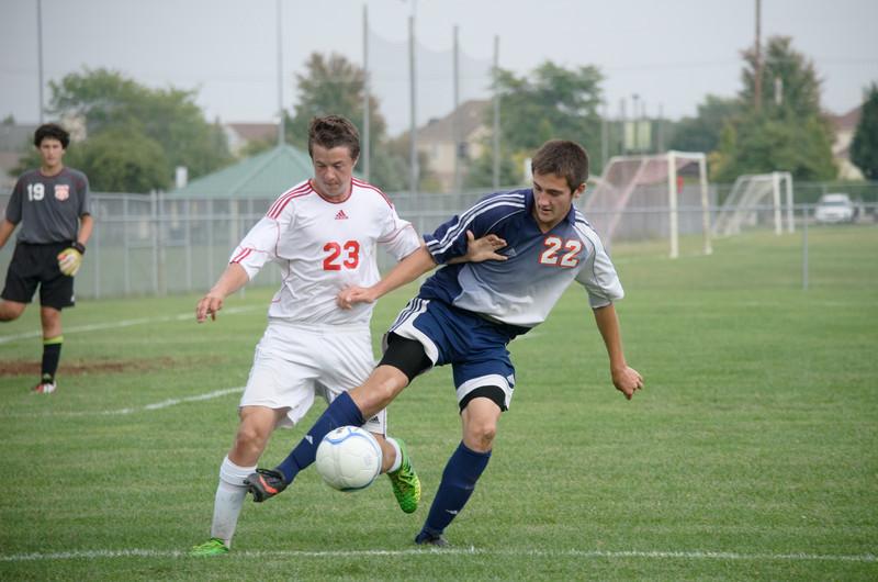 High School Soccer Game - JV team West Lafayette vs Harrison High School Soccer - September 19, 2013