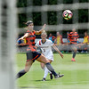 Georgia forward Lauren Tanner (3) scores the first goal during the Bulldogs' game with Cal. State Fullerton at the Turner Soccer Complex in Athens, Ga., on Sunday, Aug. 28, 2016. (Photo by David Barnes)