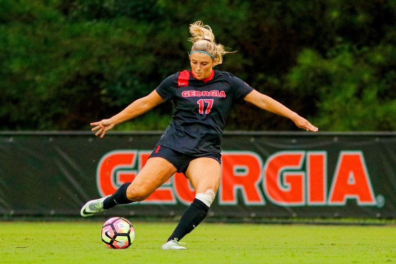 UGA women's soccer team, senior defender, Delaney Fechalos (Photo by David Barnes/Georgia Sports Communication)