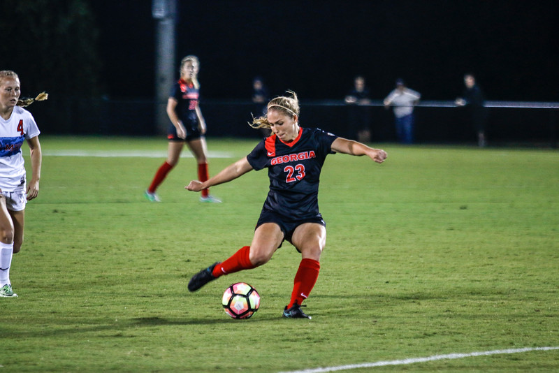 Georgia midfielder Alex Pallo (23) during the Bulldogs' game with Ole Miss at Turner Soccer Complex in Athens, GA, on Thursday, October 20, 2016.  (Photo by John Paul Van Wert / Georgia Sports Communication)