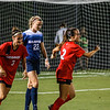 Georgia forward Marion Crowder (2) and forward Lauren Tanner (3) celebrate a goal during the Bulldogs' game with Samford at Turner Soccer Complex in Athens, Ga., on Friday, Aug. 26, 2016. (Photo by John Paul Van Wert)