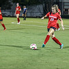 Georgia defender Carly Settles (29) kicks the ball during the Bulldogs' game with Samford at Turner Soccer Complex in Athens, Ga., on Friday, Aug. 26, 2016. (Photo by John Paul Van Wert)