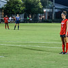 Georgia forward Lauren Tanner (3) takes a penalty kick during the Bulldogs' game with Samford at Turner Soccer Complex in Athens, Ga., on Friday, Aug. 26, 2016. (Photo by John Paul Van Wert)