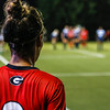 The Georgia soccer team prepares for a corner kick during the Bulldogs' game with Samford at Turner Soccer Complex in Athens, Ga., on Friday, Aug. 26, 2016. (Photo by John Paul Van Wert)