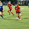 Georgia forward Marion Crowder (2) dribbles down field during the Bulldogs' game with Samford at Turner Soccer Complex in Athens, Ga., on Friday, Aug. 26, 2016. (Photo by John Paul Van Wert)