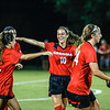 Georgia midfielder Becca Rasmussen (10) celebrates a goal during the Bulldogs' game with Samford at Turner Soccer Complex in Athens, Ga., on Friday, Aug. 26, 2016. (Photo by John Paul Van Wert)
