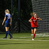 Georgia forward Marion Crowder (2) celebrates a goal during the Bulldogs' game with Samford at Turner Soccer Complex in Athens, Ga., on Friday, Aug. 26, 2016. (Photo by John Paul Van Wert)
