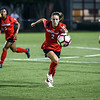 Georgia forward Marion Crowder (2) goes for the ball during the Bulldogs' game with Samford at Turner Soccer Complex in Athens, Ga., on Friday, Aug. 26, 2016. (Photo by John Paul Van Wert)