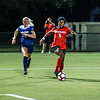 Georgia forward Kelsey Nix (5) dribbles down field during the Bulldogs' game with Samford at Turner Soccer Complex in Athens, Ga., on Friday, Aug. 26, 2016. (Photo by John Paul Van Wert)