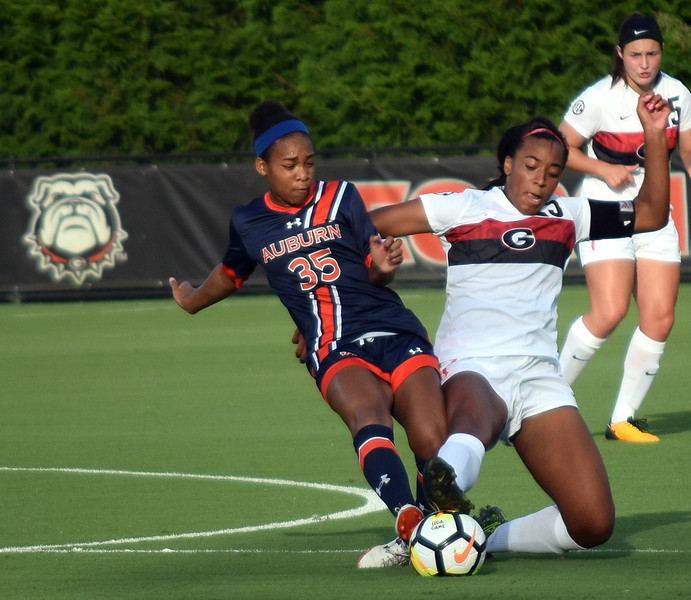 Georgia defender Kayla Bruster (25) (Photo by Steven Colquitt/Georgia Sports Communication)