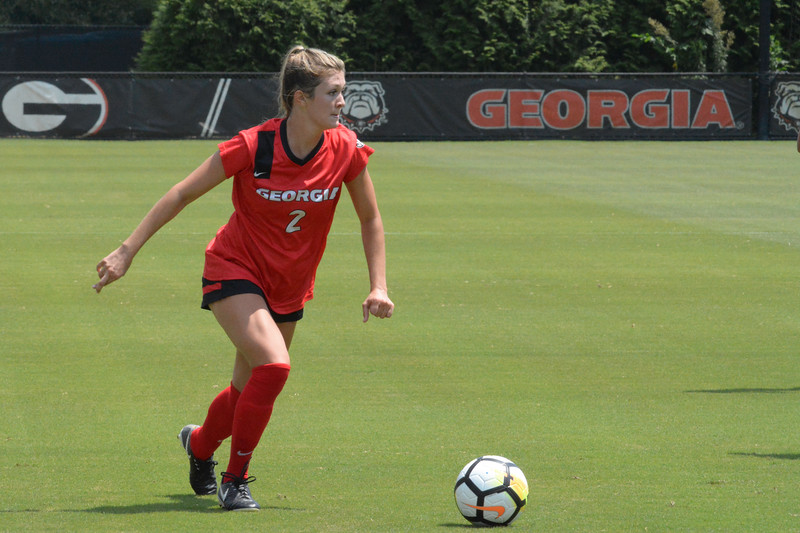 Georgia forward Katie MacGinnitie (2) during the Bulldogs' game against High Point at the Turner Soccer Complex in Athens, Ga. on Sunday, Aug. 20, 2017.  (Photo by Caitlyn Tam/Georgia Sports Communication)