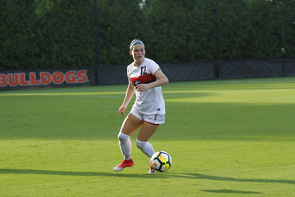 Georgia forward Mollie Belisle (12) during the Georgia vs. Auburn match at the Turner Soccer Complex in Athens, Ga. on Thursday, August 10, 2017.  (Phot: Steffenie Burns / Georgia Sports Communication)