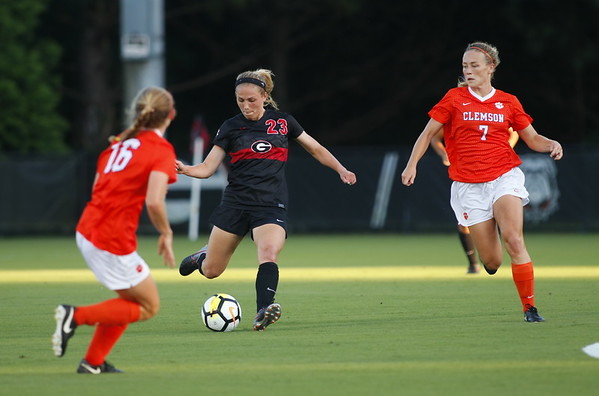 Georgia midfielder Alex Pallo (23) during the Bulldogs' game against Clemson at Turner Soccer Complex in Athens, Ga., on Sunday, Sept. 3, 2017.  (Photo by Steffenie Burns / Georgia Sports Communication)