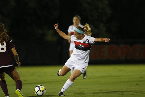 Georgia midfielder Alex Pallo (23) during the Bulldogs' game at the Turner Soccer Complex in Athens, Ga., on Thursday, Oct. 19, 2017. (Photo by Steffenie Burns / Georgia Sports Communication)