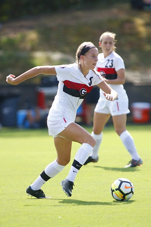 Caroline Chipman (8), midfielder  - UGA Soccer Team -  (Photo by Steffenie Burns / Georgia Sports Communication)