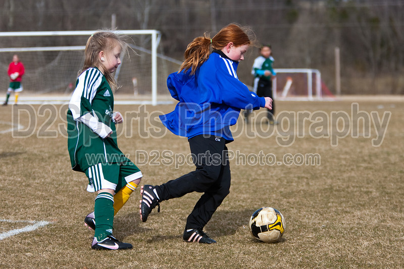 U10 Academy Girls SCSC U910C vs TCYSA Valencia BB&T Field 5B Saturday, February 27, 2010 at BB&T Soccer Park Advance, North Carolina (file 150031_QE6Q3556_1D2N)