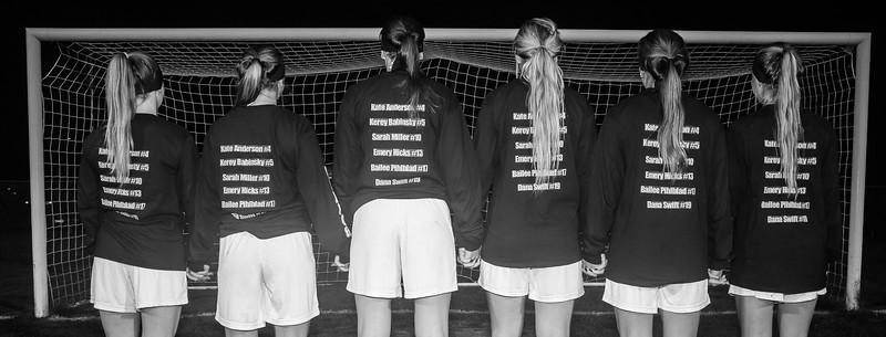 Amherst Senior Night Girls Soccer 2016