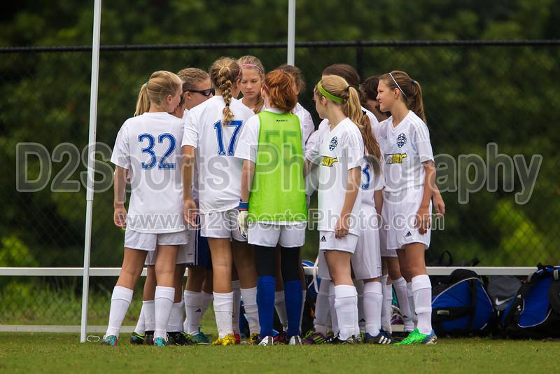 01 NRU GIRLS BLUE vs TCYSA U13 LADY TWINS RED<br /> Winston Salem Twin City Classic Soccer Tournament<br /> Saturday, August 17, 2013 at BB&T Soccer Park<br /> Advance, North Carolina<br /> (file 092437_BV0H9725_1D4)