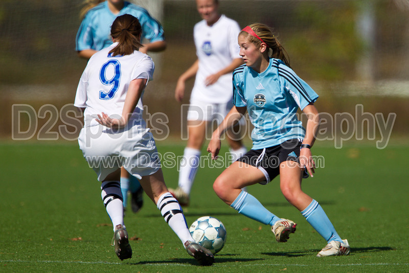 93 NCSF Elite G vs 93 CSA Copa G<br /> USYS State Cup Group Play<br /> Saturday, October 30, 2010 at John B. Lewis Soccer Complex<br /> Asheville, NC<br /> (file 132830_BV0H4561_1D4)