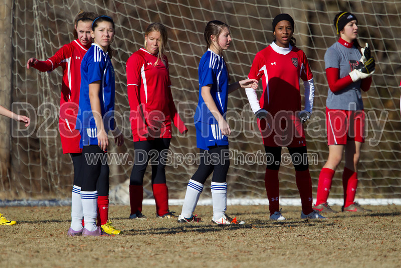 97 GUFC COURAGE WHITE G vs 97 LADY TWINS WHITE 2011 Twin City Friendlies, Field #2 Saturday, January 29, 2011 at BB&T Soccer Park Advance, NC (file 094829_BV0H3374_1D4)