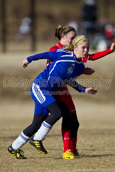 97 GUFC COURAGE WHITE G vs 97 LADY TWINS WHITE 2011 Twin City Friendlies, Field #2 Saturday, January 29, 2011 at BB&T Soccer Park Advance, NC (file 095952_BV0H3428_1D4)