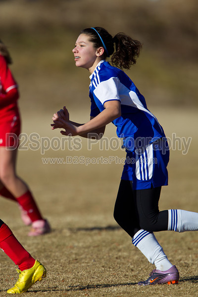 97 GUFC COURAGE WHITE G vs 97 LADY TWINS WHITE 2011 Twin City Friendlies, Field #2 Saturday, January 29, 2011 at BB&T Soccer Park Advance, NC (file 094907_BV0H3382_1D4)