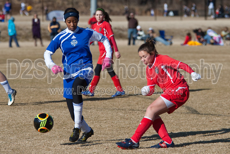 97 GUFC COURAGE WHITE G vs 97 LADY TWINS WHITE 2011 Twin City Friendlies, Field #2 Saturday, January 29, 2011 at BB&T Soccer Park Advance, NC (file 100542_803Q2652_1D3)