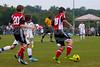 TCYSA TWINS WHITE vs 01 HFC WHITE Winston Salem Twin City Classic Soccer Tournament Saturday, August 17, 2013 at BB&T Soccer Park Advance, North Carolina (file 085736_803Q3429_1D3)