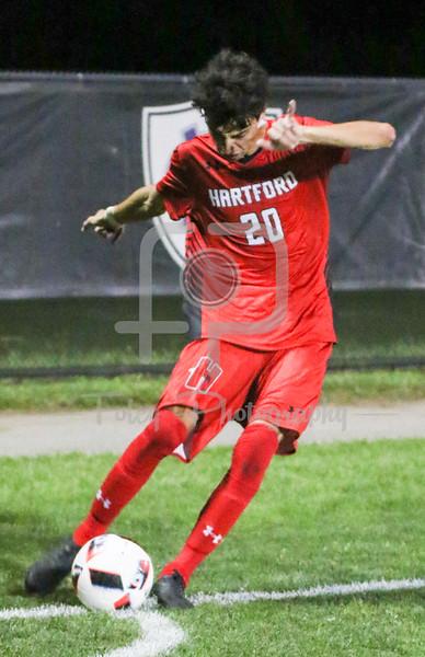 Hartford midfielder Alexis Triadis (20)