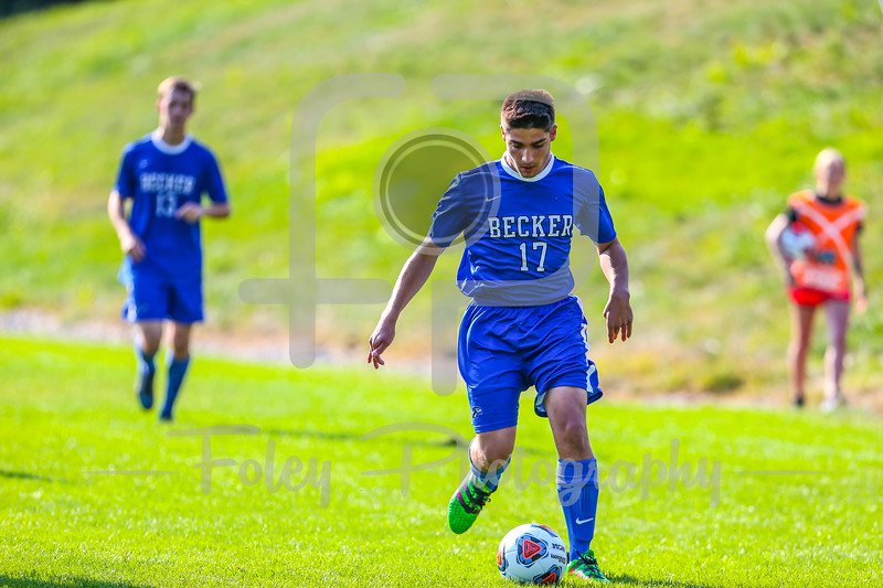 Becker College Hawks midfielder Jonathan D'Amico (17)