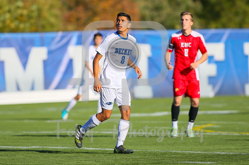 Becker College Hawks forward Nathan Cornejo (8)