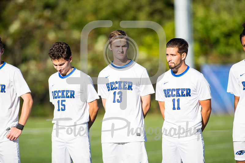 Becker College Hawks forward Benjamin Noyes (13)