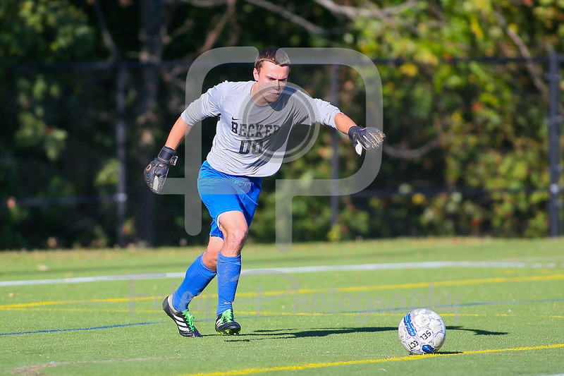 Becker College Hawks goalkeeper Sam Majewski (00)
