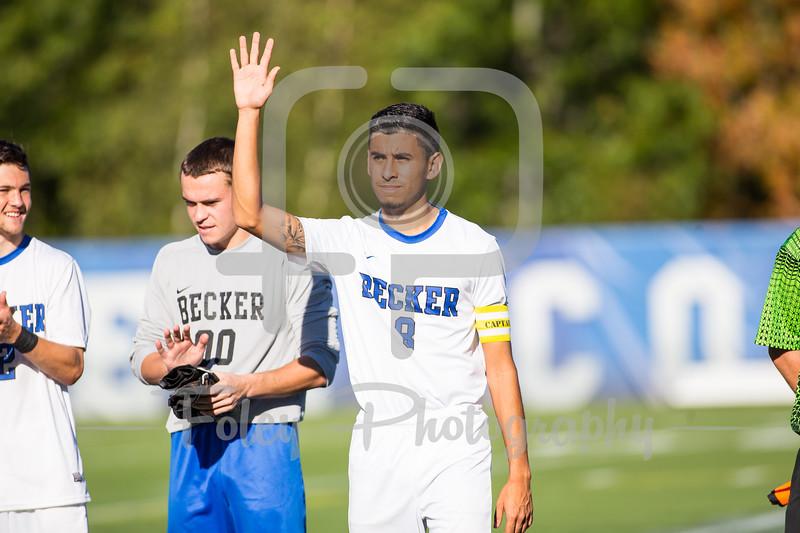Becker College Hawks forward Nathan Cornejo (8)
